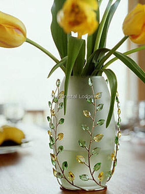 Swarovski Vase Leaves Peridot Jonquil 660733 The Crystal Lodges